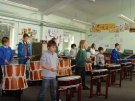 Wellington Taiko Workshop 2012.